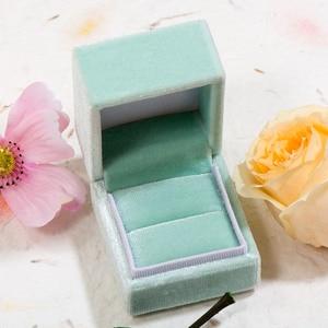 Image 5 - GZXSJG 10 Uds. De cajas de joyería de terciopelo, caja de anillo personalizada rectangular rosa y verde para boda, regalo de novia, compromiso vintage