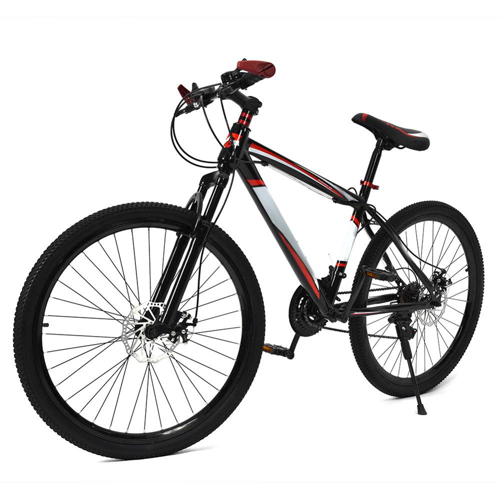 26inch 21 Speed Bike Bicycle Dual Disc Brake Dual Shockproof Frame Mountain Bike Adults Teenagers Bicycle Bike