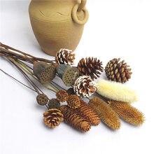 1 pçs flores secas abeto natural pinho cone lótus plantas artesanais flores secas festa decoração para casa diy artesanato acessórios
