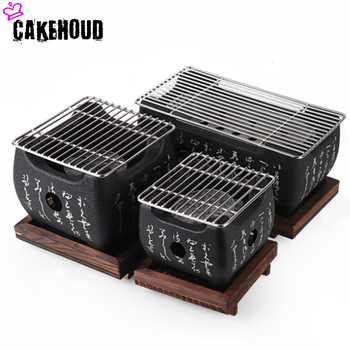 Japanese Household Mini Desktop Charcoal Grill Portable Outdoor Camping Special Food Carbon Oven Barbecue Tool Charcoal Grills