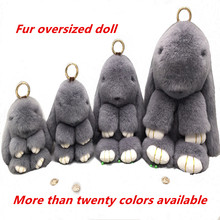 2020 new product fur oversized 27CM plush doll cute rabbit toy birthday gift filled