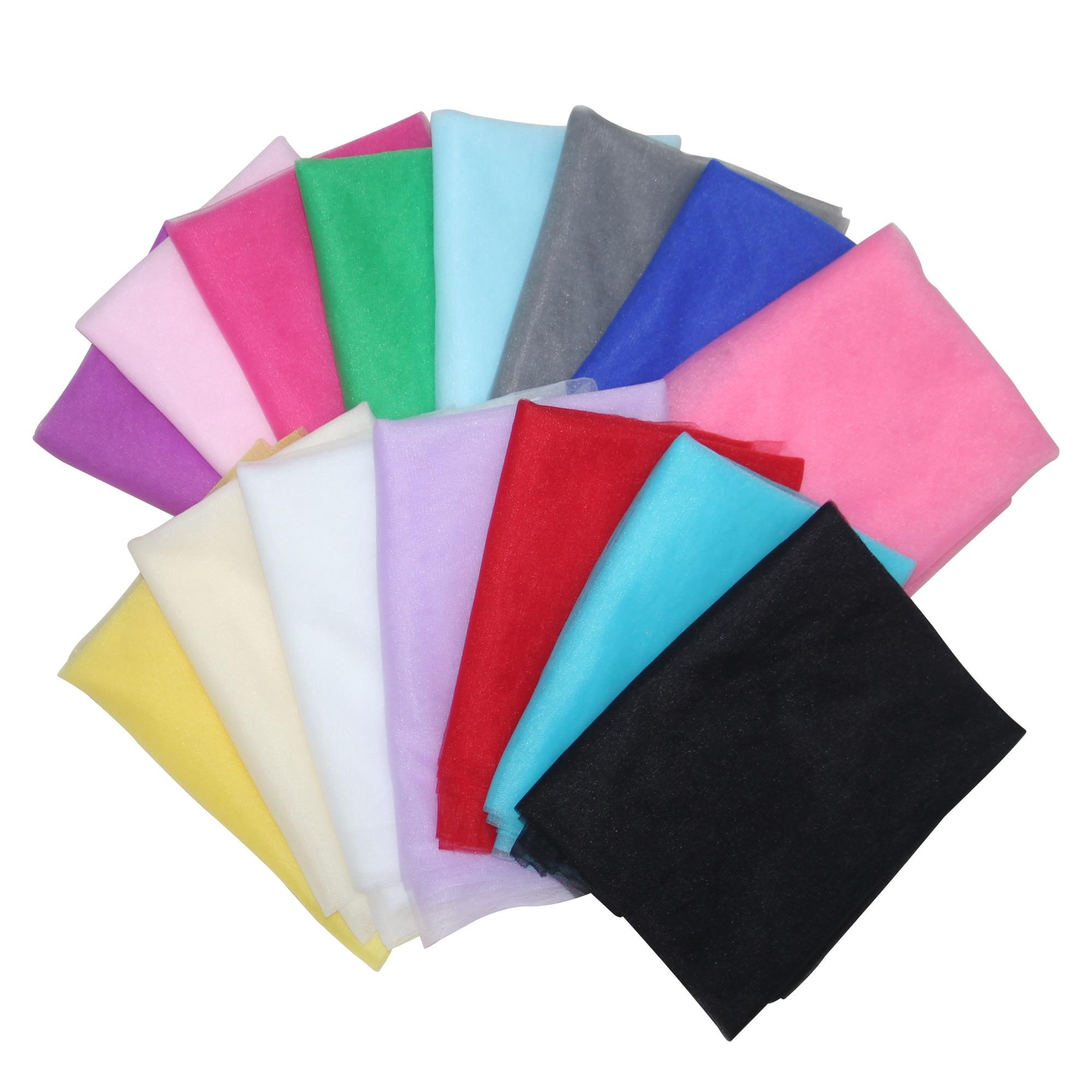 160cm 10meters soft nylon Environmental mesh tulle fabric accessory for DIY Wedding dress tutu dress hair band baby Cut headwear