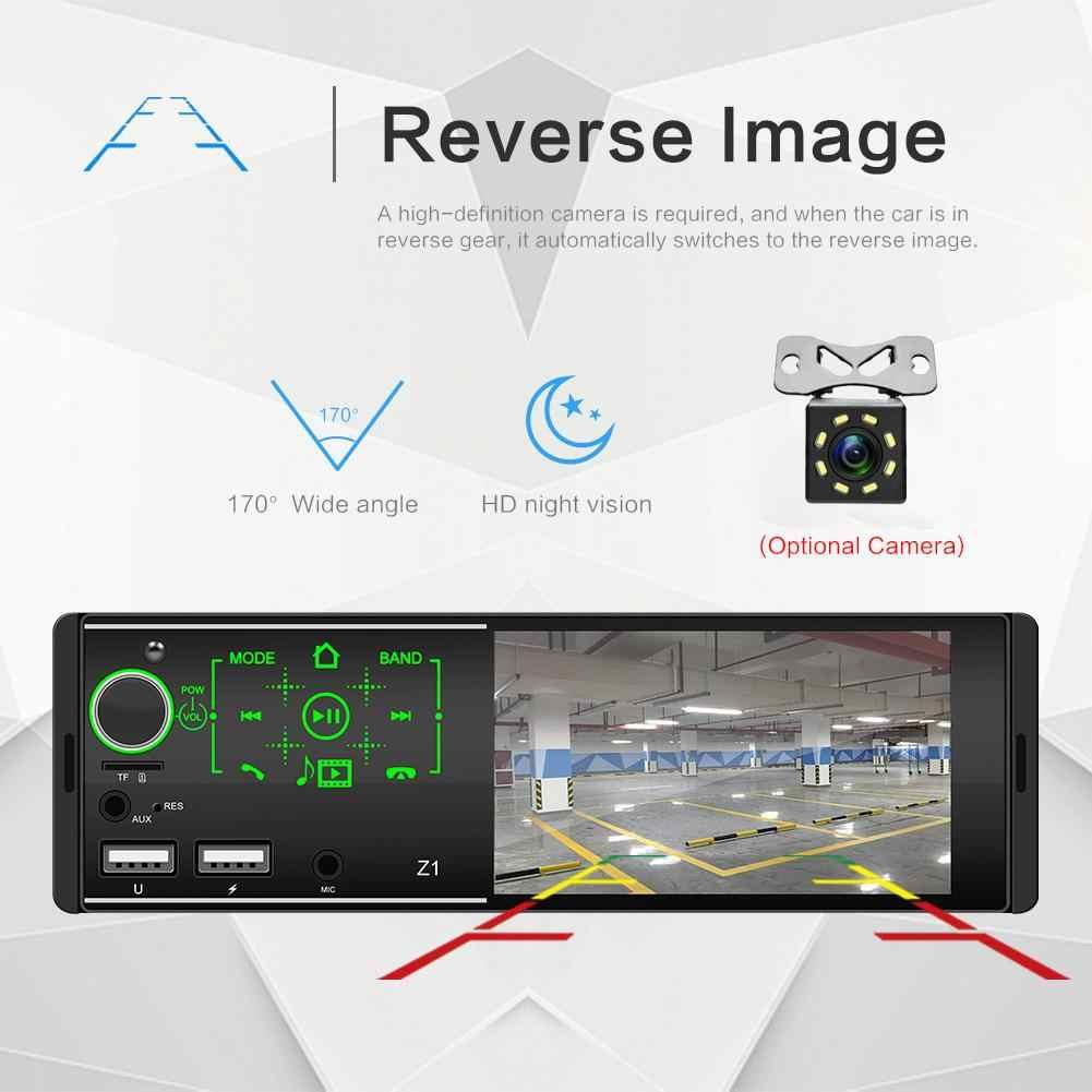 1Din Mobil Radio Stereo MP5 Pemain Multimedia Player Penopang USB AUX FM Bt Kemudi Remote Control dengan Reverse Kamera