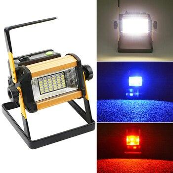 Foco portátil de 50W, luz de trabajo LED de 3 modos recargable, 18650 36 LED, lámpara exterior para caza, Camping, linterna D25