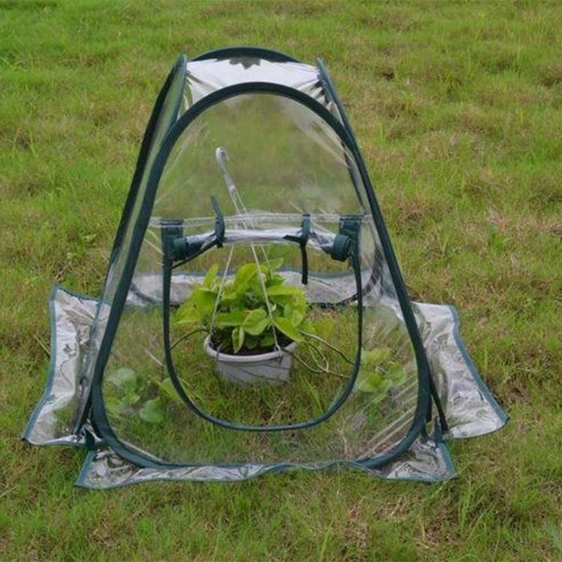 Mini Pop-up Greenhouse Indoor Outdoor Gardening Flowerpot Cover Flower Shelter