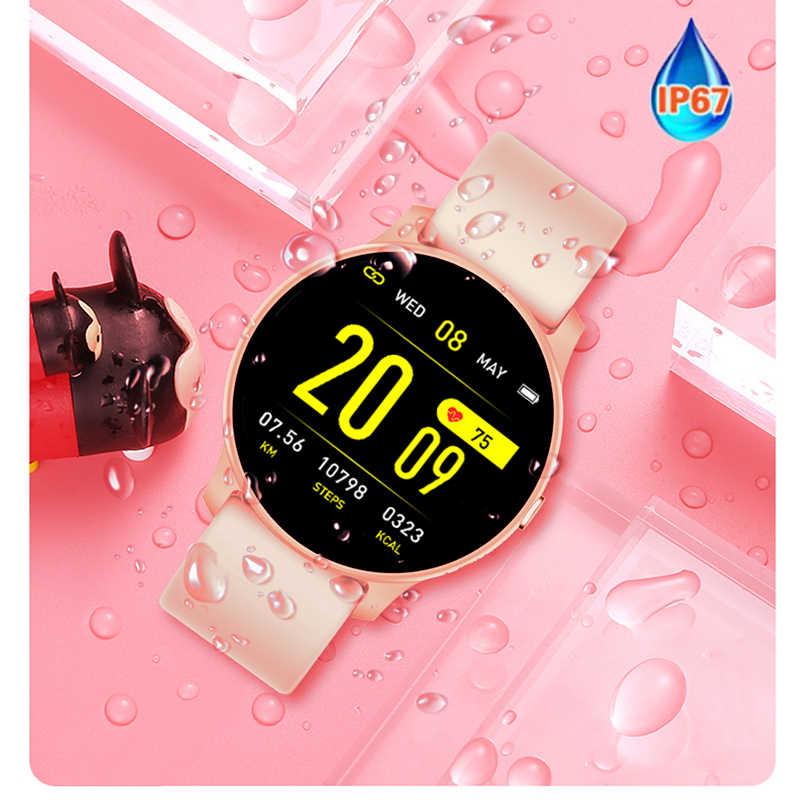 LIGE 2019 新規スマート腕時計女性心拍数健康監視歩数計スポーツフィットネススマートウォッチ Android IOS カップルの腕時計 + ボックス