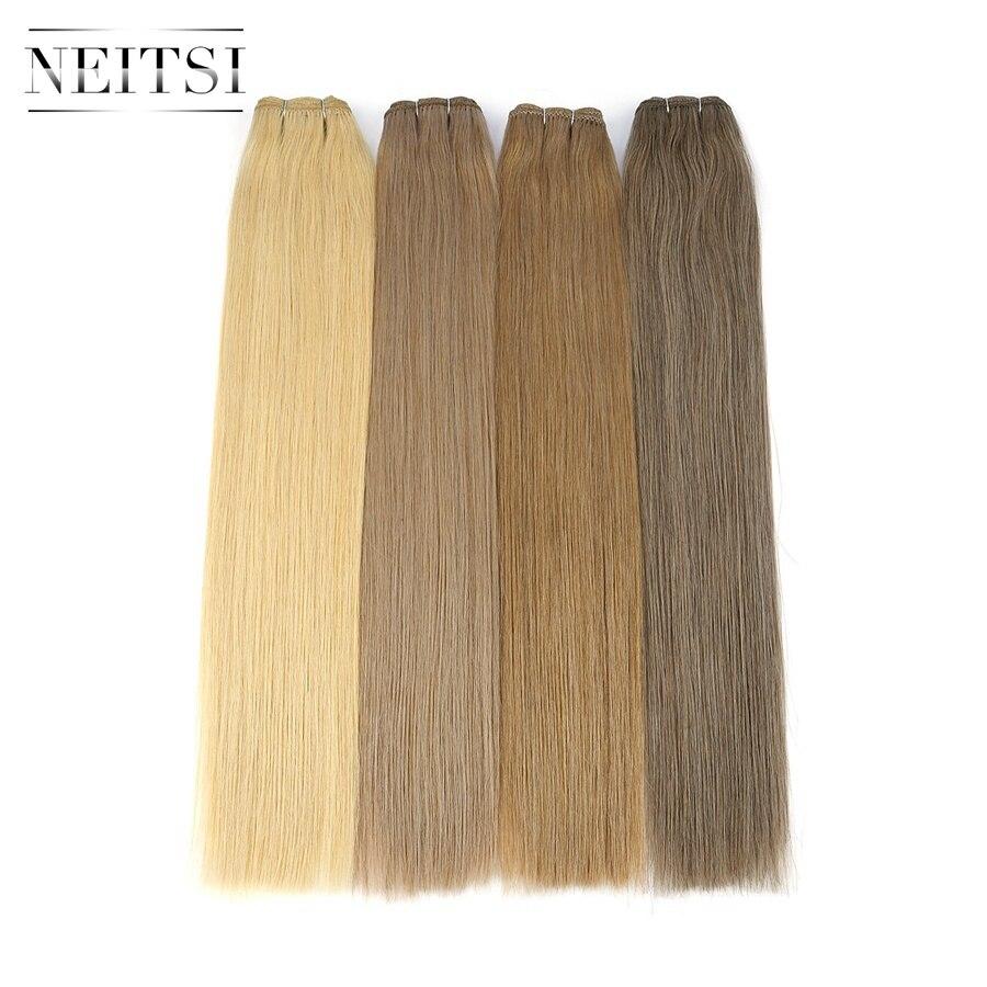 Neitsi двойные Человеческие волосы Remy для наращивания 20