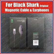 Оригинальный 18 Вт Black Shark 3 Pro Магнитный зарядный кабель 1,2 м Black shark 3s 2 Pro Игровые наушники 3,5 мм Type C правый угол