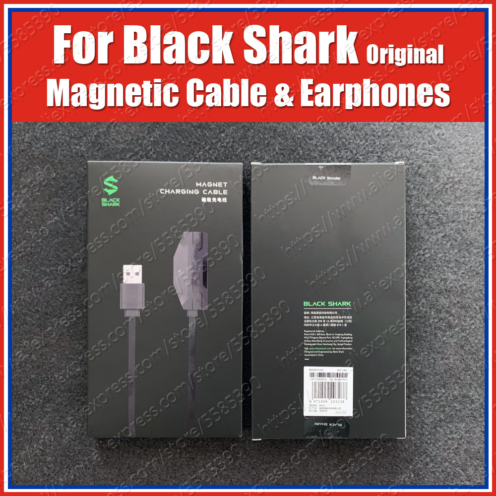 Original 18W Black Shark 3 Pro Magnetic Charging Cable 1.2M Black Shark 3 Gaming Earphones 3.5mm Jack Headset KLE/MBU-A0