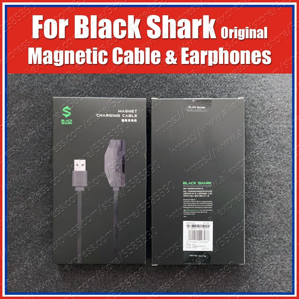 Original 18W Black Shark 3 Pro Magnetic Charging Cable 1.2M Black shark 3 Gaming Earphones 3.5mm Jack headset KLE/MBU-A0(China)