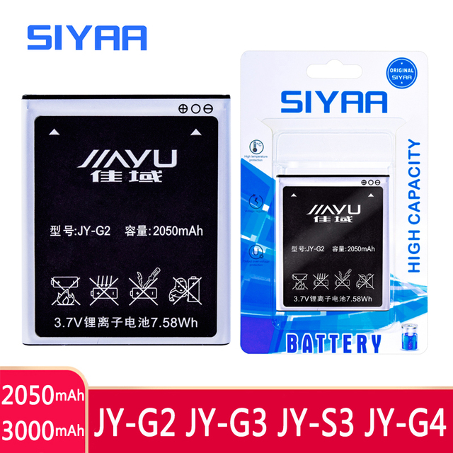 SIYAA נייד טלפון JY G2 JY G3 JY S3 JY G4 סוללה עבור JIAYU G2 JYG2 JYS3 JY S3 JY G4 S3 G4s G4 g4T JY G3 JYG3 G3 Bateria