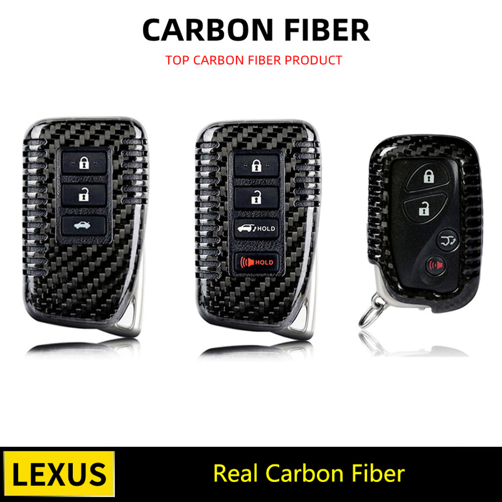 Black Red Carbon Fiber Remote <font><b>Key</b></font> Fob <font><b>Case</b></font> Shell Cover For <font><b>Lexus</b></font> GX460 GX470 LX470 LX570 <font><b>RX300</b></font> RX350 RX400H RX200t NX200 NX300H image