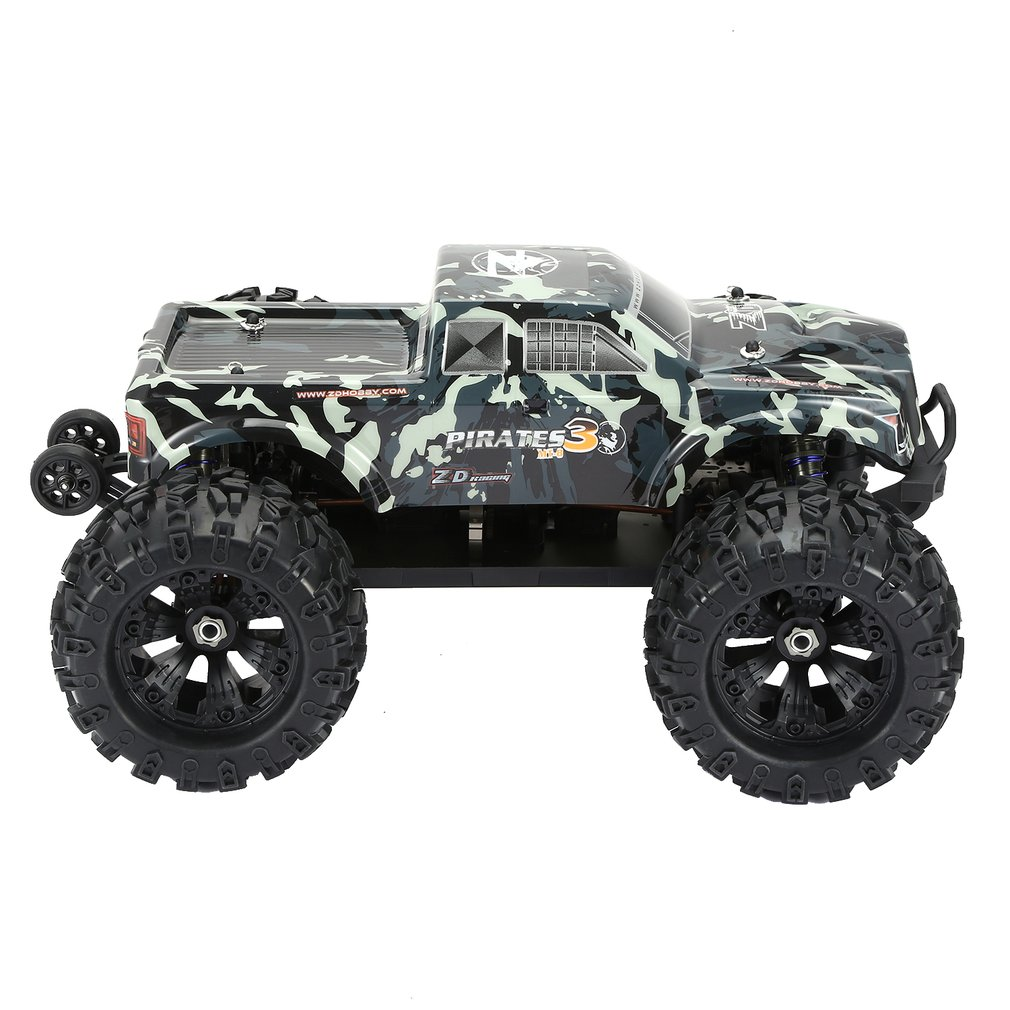 ZD RACING MT8 Pirates3 1/8 2,4G 90 km/h eléctrico sin escobillas RC coche de carreras OFF Road modelo Pie Grande monster camión RTR/Marco de coche - 2