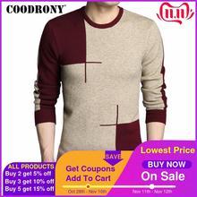 COODRONY suéteres gruesos y cálidos para hombre, suéter de lana con cuello redondo, ropa de marca, jersey de Cachemira de punto para hombre 2020