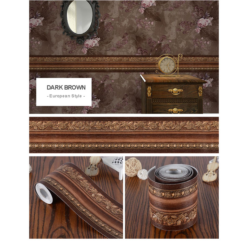 3D Embossed Baseboard Wall Sticker Decoration Stickers Home, Pets and Appliances Wall Papers