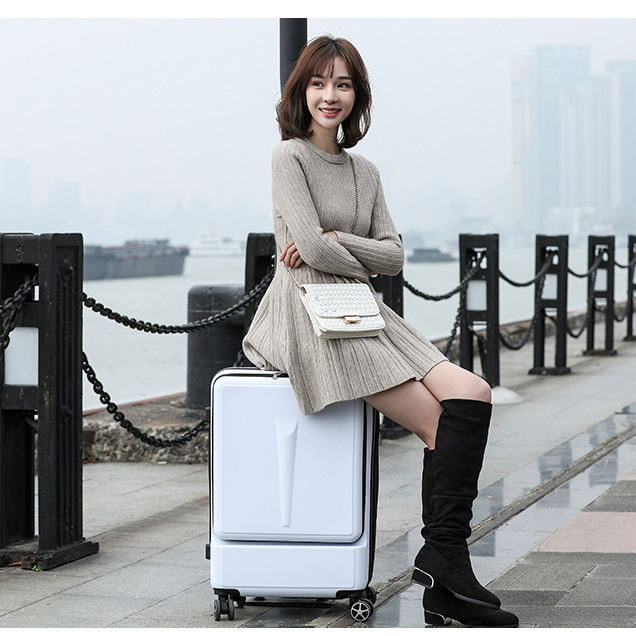 """24""""Creative Rolling Luggage Spinner Suitcase Wheels Men Trolley Women Travel bag On Wheel 20 inch Cabin luggage with laptop bag"""