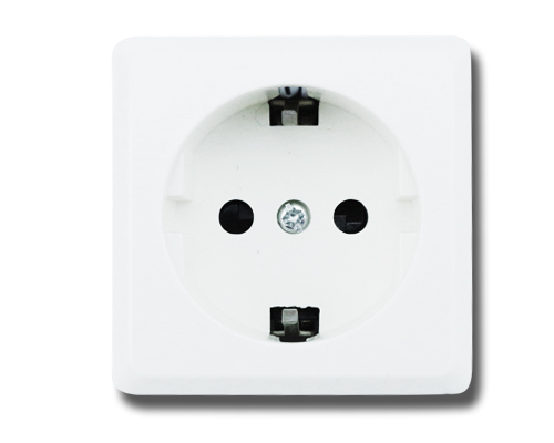 Aigostar Schuko Socket Surface Mount Wall Outlet Fused Mains Power Socket, White, Pack Of 5