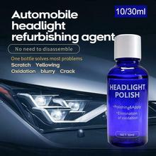 10ML Car Headlights Liquid Repair Agent Ceramic Coat Super Hydrophobic Glass Polishing Coating Liquid Headlight Refurbished