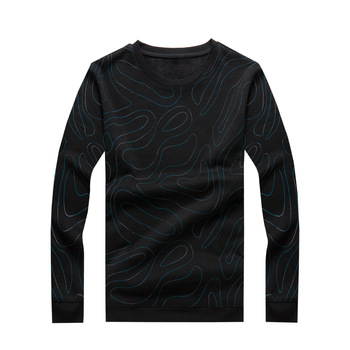 Extra Large Size Plus Velvet Thicken Sweater Men Keep Warm Backing Shirt Plus Fat plus Size Loose Winter Clothes Youth