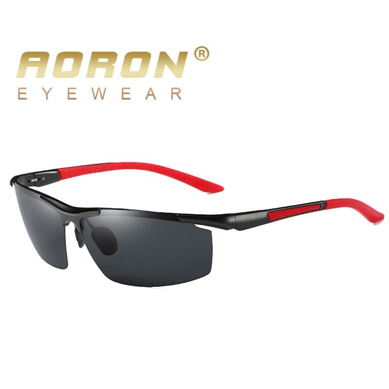 AORON Sunglasses Men Polarized Sunglasses Classic Sports Driving Mirror Glasses Aluminum Frame UV400 Sun Glasses Eyewear A8530