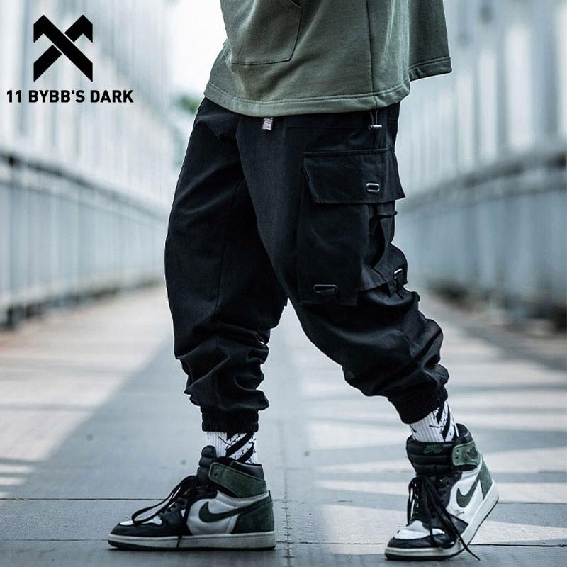 11 BYBB'S DARK Big Pockets Men Cargo Harem Pants 2019 Harajuku Streetwear Loose Sweatpants Hip Hop Casual Joggers Men Trousers