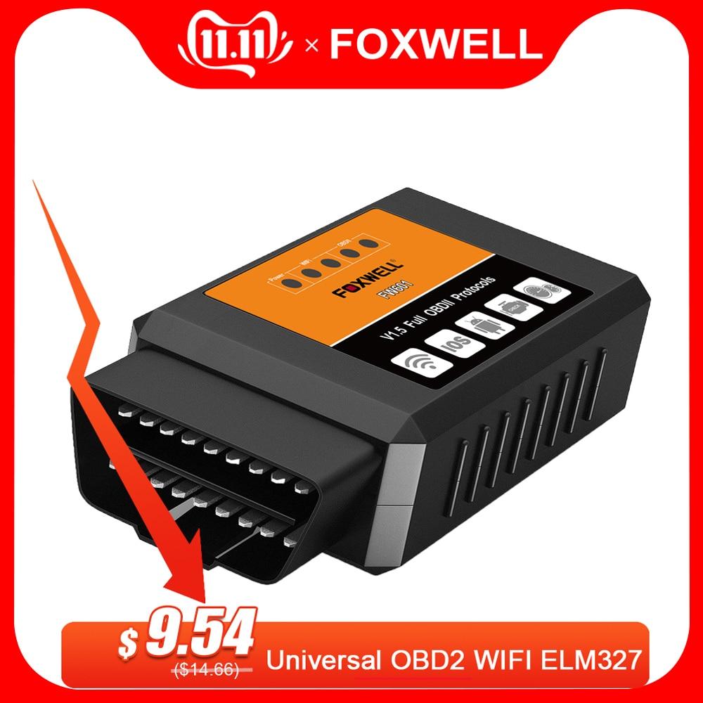 FOXWELL FW601 Universal OBD2 WIFI ELM327 V 1.5 Scanner For IPhone IOS Auto OBDII Scan Tool OBD 2 Code Reader V1.5 WI-FI ODB2