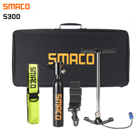 SMACO Diving Equipment Mini Scuba Diving Cylinder Scuba Oxygen Tank Air Valve for Snorkeling Underwater Breathing Kits