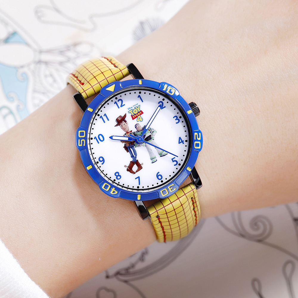 Disney Brand Children Boy Girl Wristwatches Quartz Leather Waterproof Fashion Boys Girls Watches Toy Story Cartoon Anime