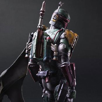 PA kai Classic movies star battle action figure 28cm Boba Jango Bounty Hunter Fett model PLAY ARTS space war toy doll collection 2