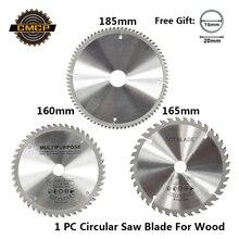 1 шт. диаметр 160 165 185 мм TCT Циркулярный пильный диск для дерева, пластика, акрила, деревообрабатывающий пильный диск 24T 48 60T 80T режущий диск