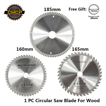 цена на 1pc Diameter 160 165 185mm TCT Circular Saw Blade For Wood Plastic Acrylic Woodworking Saw Blade 24T 48 60T 80T Cutting Disc