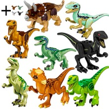 12pcs/set Dinosaurs Jurassic World Baby Figures Building Tyrannosaurus Blocks Kids Toy