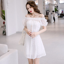 Spring and summer new style Korean temperament sexy collar dress Slim-fit lace dress Summer new dress 2016 spring summer new style girl lace dress baby thick disorderly princess temperament full dress exceed immortal