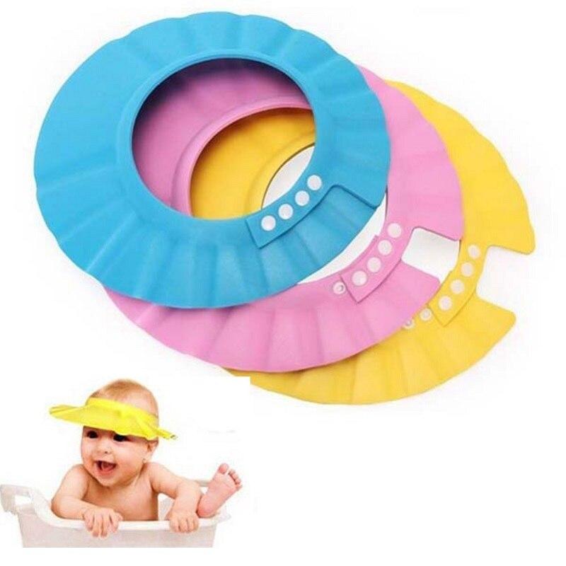 Детский шампунь шапочка для душа для детей безопасный шапочка для душа, защита от шампуня; Шапка для мытья волос Щит Регулируемый эластичны...