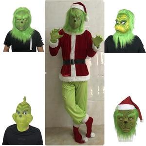Masquerade Mask Grinch Head Co