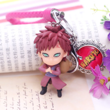 2019 New Cartoon Character Comics Naruto Key PVC Chain Anime Figure 3D Double Side Ring Boy Toy Gift
