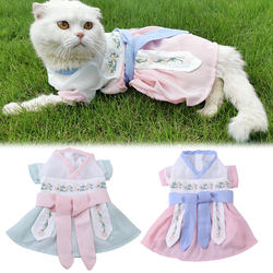 Elegant Pet Costume Chinese Style Hanfu Cosplay Dog Costume Clothes Cat Party Costume Pet Supplies Clothing For Cat Dog