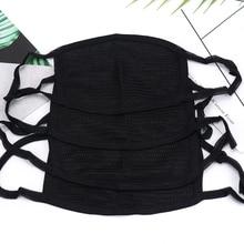 Корейский стиль черная Пылезащитная Маска Защита носа Смешанная маска для лица и рта модные многоразовые маски для мужчин и женщин