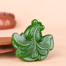 Pendant Necklace Amulet Jewelry Fashion-Accessories Chinese Charm Hand-Carved Green Jade