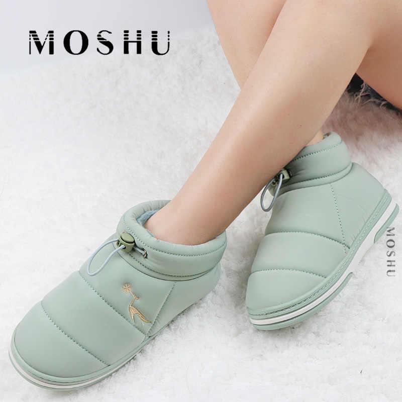 Kış fermuar kar botları kadın yarım çizmeler katı peluş ev ayakkabı kadınlar kayma rahat patik bayanlar ayakkabı kürk Botas mujer