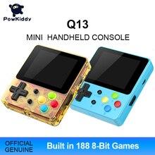 Powkiddy Q13 LDK 88FC يده لعبة فيديو وحدة التحكم المدمج في 188 8 بت FC ألعاب 2.4 بوصة IPS شاشة الأطفال هدية دعم التلفزيون