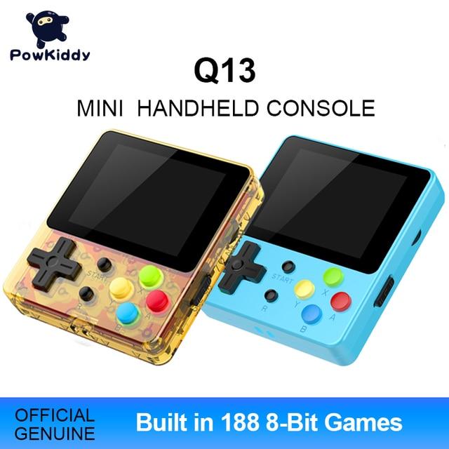 Powkiddy Q13 LDK 88FC el Video oyunu konsolu dahili 188 8 Bit FC oyunları 2.4 inç IPS ekran çocuk hediye destek TV