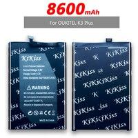 Bateria de telefone móvel para oukitel k3 plus  8600mah + número de rastreamento