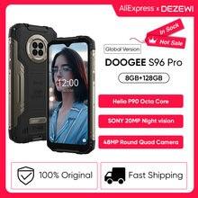 Doogee s96 pro 24w carga rápida áspero telefone 48mp quad câmera 20mp visão noturna infravermelha helio g90 octa núcleo 128gb rom 6350mah