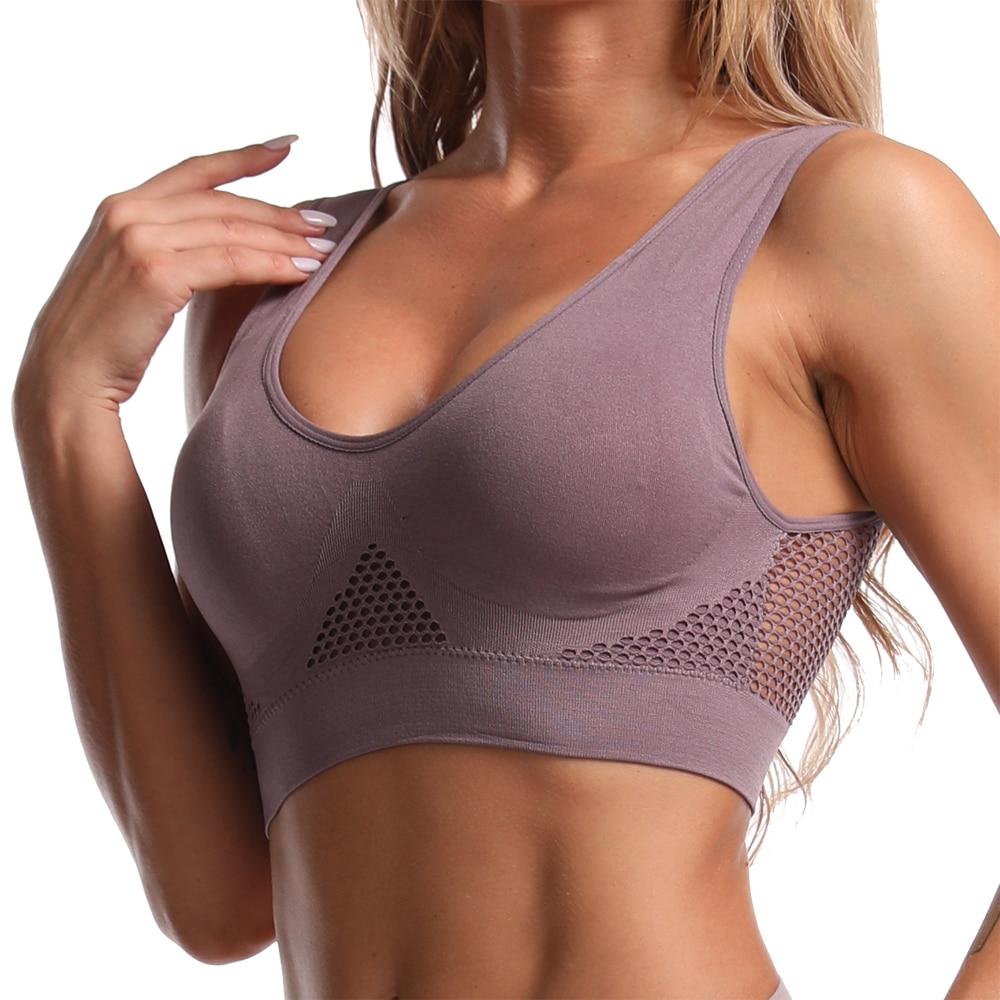 top sports bras bralette crop top fitness gym running sportswear women's underwear push up brassiere plus size Yoga bra BH 1