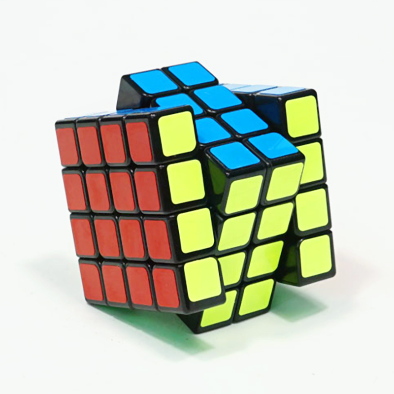 Original QiYi Qiyuan  4x4 Magic Speed Cube Stickerless Black Competition Puzzle Cubes Educational Toys