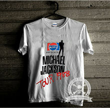 VTG T shirt 80s Michael Jackson Bad Tour Pepsi Concert REPRINT S-XXL O-Neck Sunlight Men T-Shirt top tee