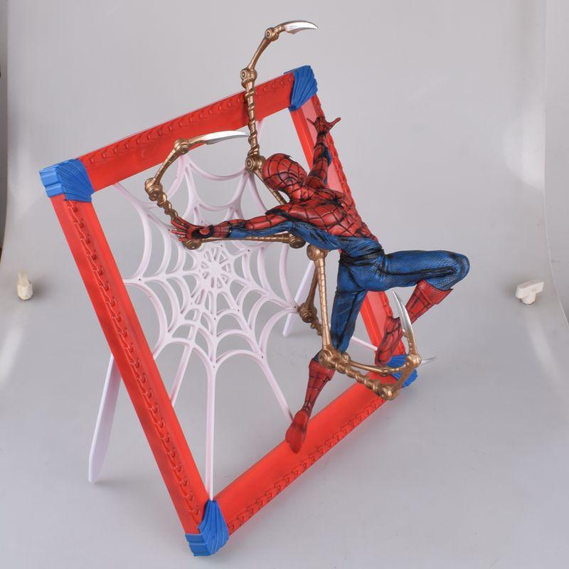 37CM les vengeurs Infinity War 2 style différent araignée homme cadre Photo PVC modèle jouets