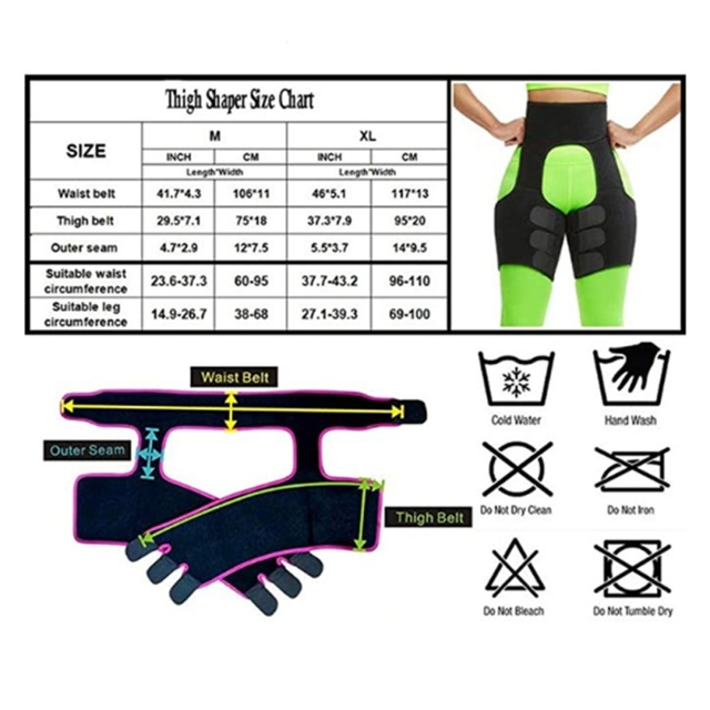Waist Training Sweat Shapewear Slim Thigh Trimmer Leg Shapers Slimming Belt Fat Burning Compress Belt 3