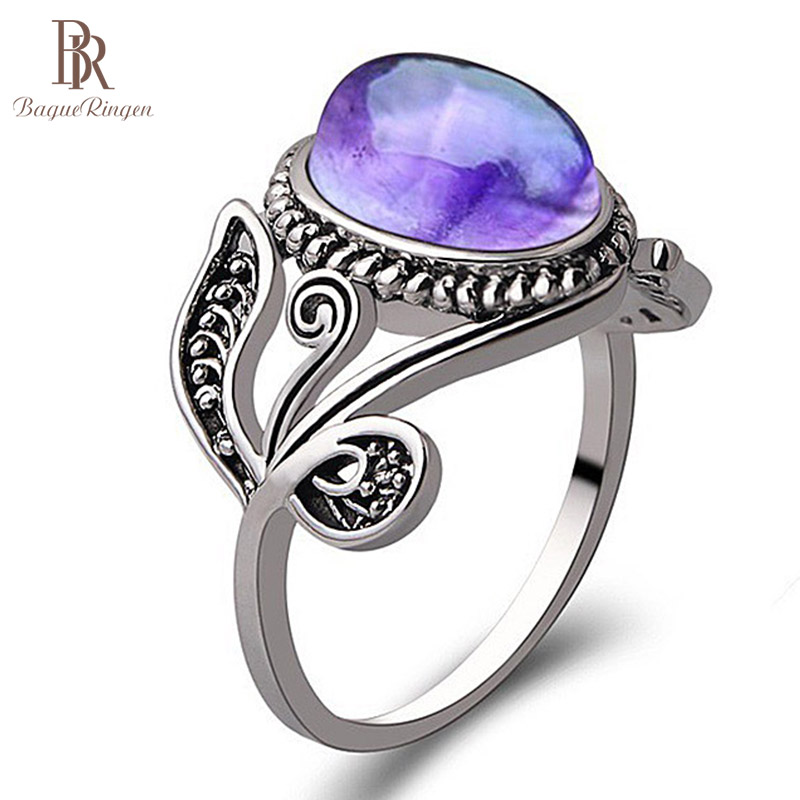 Bague Ringen NEW Best Sellers Silver Finger Jewelry Ring Amethyst,Set In Drill,Gift For Women,Anniversary Valentine's Day
